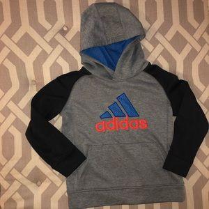 Kids' Adidas Gray Hoodie, Size 7X